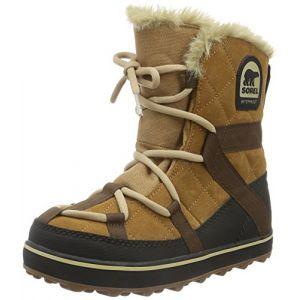 Sorel Glacy Explorer, Bottes de Neige Femme, Marron (Elk 286), 36.5 EU