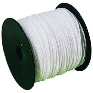 Taliaplast 400504 - Cordeau tressé polypropylène blanc diamètre 1.5 mm bobine de 200 m sur flasque