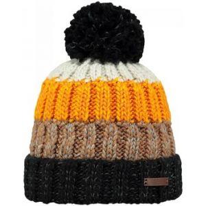 8d47138289b Barts Bonnet enfant - Bonnet pompon en maille noir et orange du 10 au 18 ans