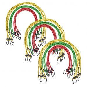 VidaXL Corde élastique 60/80/100 cm 30 pCS Rouge Jaune Vert