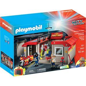 Toyland Playmobil 5663 - City Action - Caserne de pompiers transportable