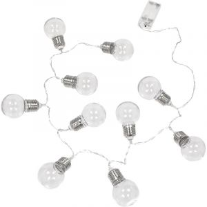 AC-Déco Guirlande LED 10 ampoules District 9 - 120 x 5 x 7,5 cm - Blanc