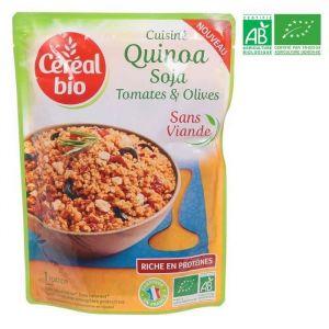 Céréal bio Cuisiné Quinoa Soja tomates et olives