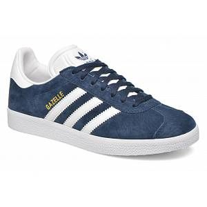 Adidas Gazelle - Sneakers Basses Mixte Adulte - Bleu (Collegiate Navy/White/Gold Met) - 38 2/3 EU