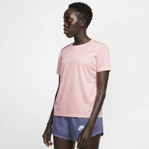 Image de Nike Haut de runningà manches courtes Miler pour Femme - Rose - Taille L - Female