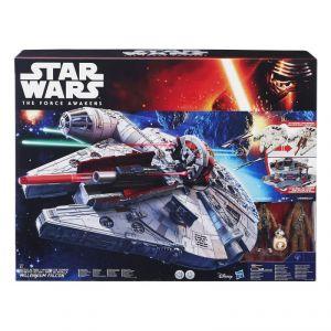 Hasbro Battle Action Millennium Falcon et ses personnages - Figurine Star Wars Episode VII
