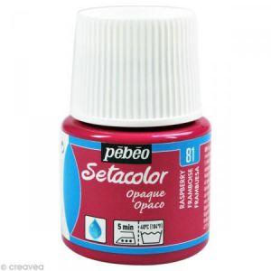 Pebeo Peinture tissu Setacolor - Opaque - Framboise - 45 ml