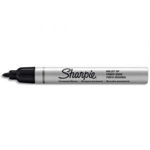 Sharpie Marqueur permanent Pro Métal Moyen noir,