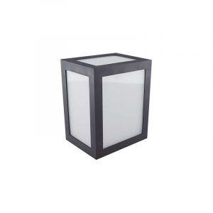 V-TAC VT-822 applique murale LED 12W wall light cube corps noir blanc froid 6400K IP65 - sku 8342