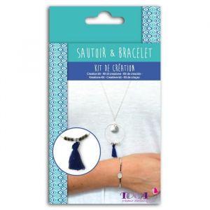 Toga Kit Bijoux Cyclades - 1 chaîne + 1 mini anneau - 1 gros anneau + des mini perles - 2 breloques + 1 pompon - 1 fermoir
