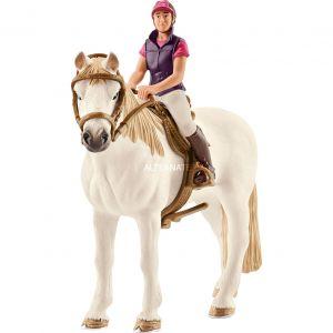 Schleich 42359 - Cavalière amatrice avec cheval