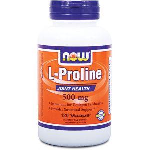 Now Foods L-proline 500 mg - 120 gélules végétales