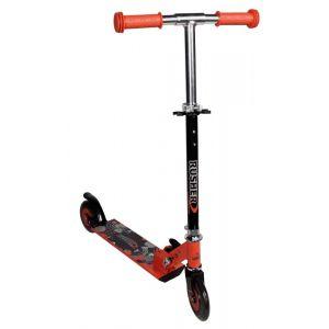 Rusher Trottinette 2 roues pliable rouge et noire