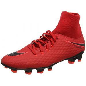 Nike Hypervenom Phelon 3 DF FG, Chaussures de Football Homme, Rouge (Rouge Université/Cramoisi Brillant/Noir), 42.5 EU