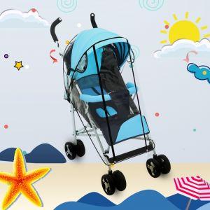 WeWoo Parapluie et imperméable transparent pour des chariots de golf, des poussettes de bébé des fauteuils roulants Couverture transparente réglable fournir la protection de la pluie, du vent, de la brume, même le moustique mode droit de catégorie de nour