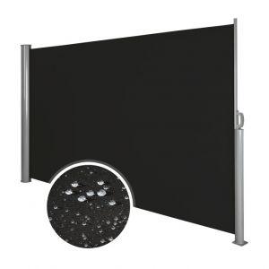 Auvent store latéral brise-vue abri soleil aluminium rétractable 180 x 300 cm noir