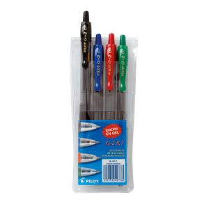 Pilot 4 stylos roller gel G2 assorties (0,7 mm)