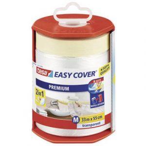 Tesa Bâche Easy cover 33x0.55 m + dérouleur Bâche protection peinture