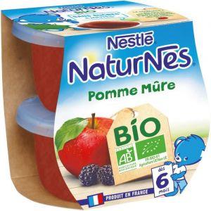 Nestlé Compotes pomme mûre bio, 2 x 115 g - dès 4-6 mois