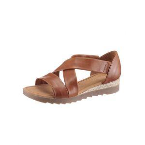 Gabor 22.711 Femme,Sandales compensées,Chaussures d'été,Confortable,Plat,Peanut(Jute/Ambra),39 EU / 6 UK