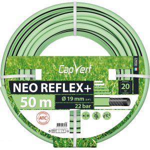 Cap Vert Tuyau d'arrosage Néo Reflex+ - Diamètre 19 mm - Longueur 50 m