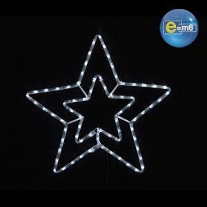 Guirlande Lumineuse étoile double niveau 56 cm