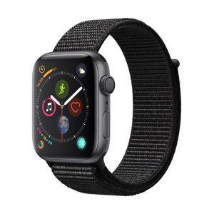 Apple Watch Series 4 Cellular 44 mm - Boîtier en Aluminium Gris sidéral avec Boucle Sport noir