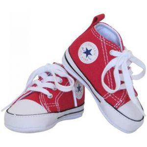 Converse Chaussures enfant - Baskets All star bébé fille toile rouge