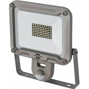 Brennenstuhl Projecteur LED JARO 50W avec Détecteur de mouvements infrarouge (4770 Lumens, utilisation en Intérieur et Extérieur IP44), Gris