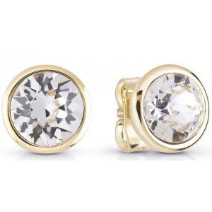 Guess Boucles d'oreilles Bijoux UBE83051 - Puces blanches métal doré Femme