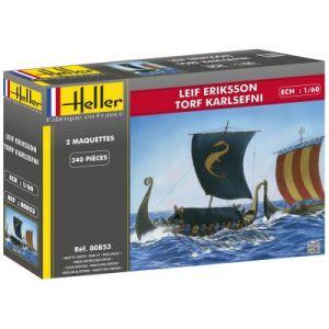 Heller 80853 - 2 maquettes bateaux Leif Eriksson & Torf Karlsefni