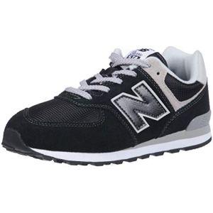 New Balance Pc574v1, Basses Mixte Enfant - Noir (Black/Grey), 31 EU (12.5 UK)