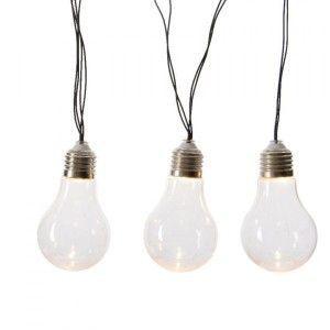 Guirlande l ineuse solaire 10 ampoules Led Blanc chaud