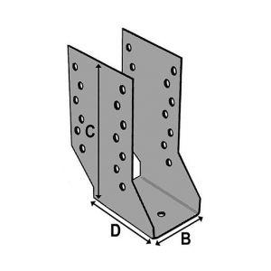 Alsafix Sabot cantilever (P x l x H x ép) 80 x 64 x 158 x 2,0 mm - AL-SC064158