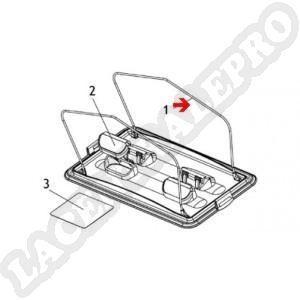 Procopi 1019033 - Clapet d'entrée de porte filtre Lazernaut