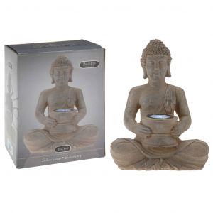 Progarden Lampe solaire Buddha Pierre poly