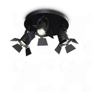 Ideal lux Applique murale CIAK Noir 3x50W - 095691