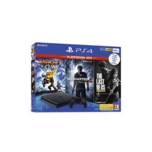 Sony Console PS4 Slim 500Go + 3 jeux HITS