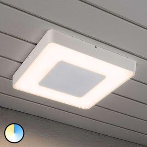 Konstsmide Plafonnier d'extérieur LED blanc carré Carrara