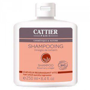 Cattier Shampoing au vinaigre de romarin Bio pour cheveux gras (250 ml)
