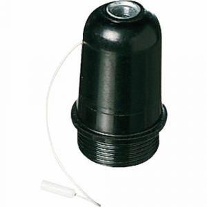 Ebénoid Douille avec interrupteur à tirette - Culot E27 - Plastique