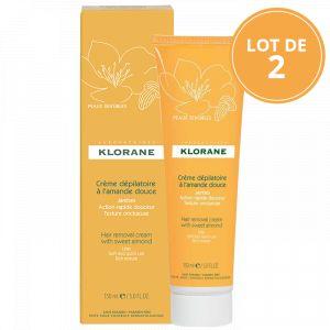 Klorane Crème dépilatoire à l'amande douce - 2 x 150 ml