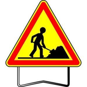 Taliaplast 522404 - Panneau signalisation danger travailleur ak5 t1 700mm