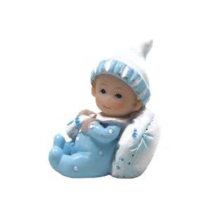 Figurine en résine bébé garcon Baptême