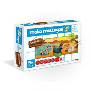 Mako moulages 3 moulages en plâtre : Destination savane