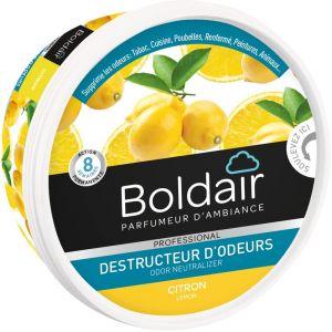 Boldair Destructeur d'odeurs sous forme de gel solide parfum citron