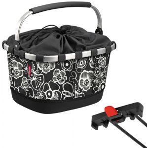 Klickfix Sacoche de porte bagage carrybag gt racktime fleurs noires