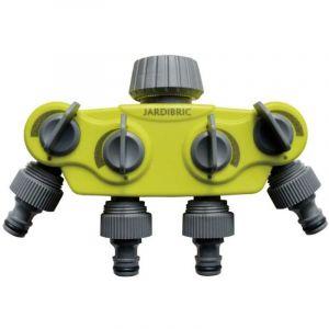 Jardibric Té de dérivation pour robinet 4 sorties