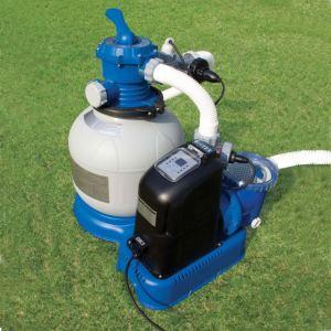 Intex 56678 - Combiné filtre à sable 6 m3/h + stérilisateur au sel
