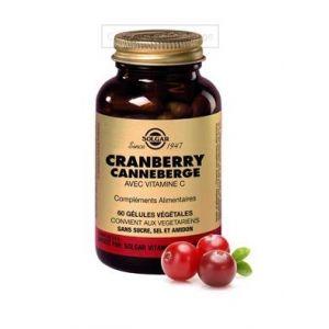 Solgar Cranberry Canneberge avec vitamine C - 60 gélules végétales